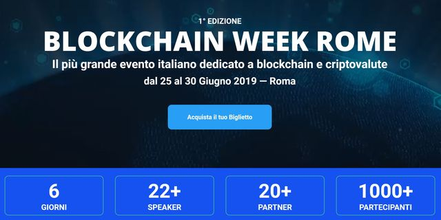 Blockchain Week Rome