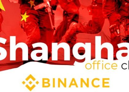 Binance Shanghai office closed