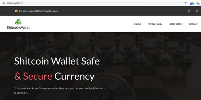 Shitcoin Wallet website