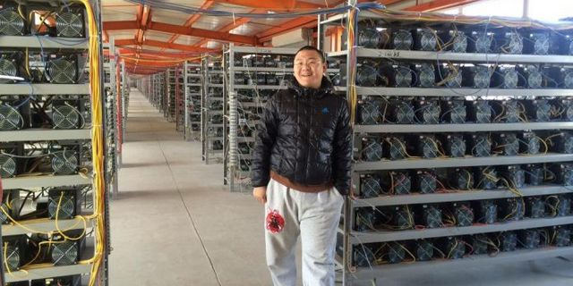 Bitcoin mining farm in China